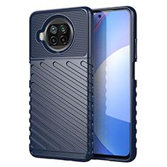 Silikon Hülle Handyhülle Gummi Schutzhülle Flexible Tasche Köper S01 für Xiaomi Mi 10i 5G Blau