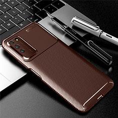 Silikon Hülle Handyhülle Gummi Schutzhülle Flexible Tasche Köper Y01 für Huawei Honor X10 5G Braun