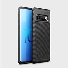 Silikon Hülle Handyhülle Gummi Schutzhülle Flexible Tasche Köper Y01 für Samsung Galaxy S10 Plus Schwarz