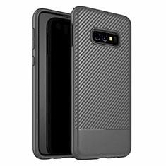 Silikon Hülle Handyhülle Gummi Schutzhülle Flexible Tasche Köper Y02 für Samsung Galaxy S10e Schwarz