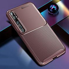 Silikon Hülle Handyhülle Gummi Schutzhülle Flexible Tasche Köper Y02 für Xiaomi Mi Note 10 Braun