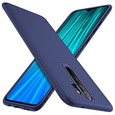 Silikon Hülle Handyhülle Gummi Schutzhülle Flexible Tasche Köper Y03 für Xiaomi Redmi Note 8 Pro Blau