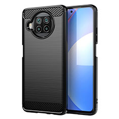 Silikon Hülle Handyhülle Gummi Schutzhülle Flexible Tasche Line C01 für Xiaomi Mi 10T Lite 5G Schwarz