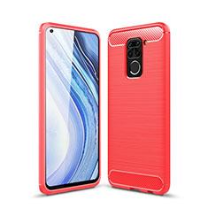 Silikon Hülle Handyhülle Gummi Schutzhülle Flexible Tasche Line C01 für Xiaomi Redmi 10X 4G Rot