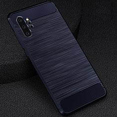 Silikon Hülle Handyhülle Gummi Schutzhülle Flexible Tasche Line C02 für Samsung Galaxy Note 10 Plus 5G Blau
