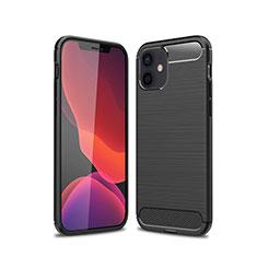 Silikon Hülle Handyhülle Gummi Schutzhülle Flexible Tasche Line für Apple iPhone 12 Schwarz
