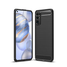 Silikon Hülle Handyhülle Gummi Schutzhülle Flexible Tasche Line für Huawei Honor 30 Schwarz