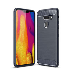 Silikon Hülle Handyhülle Gummi Schutzhülle Flexible Tasche Line für LG G8 ThinQ Blau