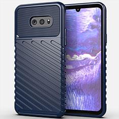 Silikon Hülle Handyhülle Gummi Schutzhülle Flexible Tasche Line für LG G8X ThinQ Blau
