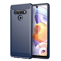 Silikon Hülle Handyhülle Gummi Schutzhülle Flexible Tasche Line für LG Stylo 6 Blau