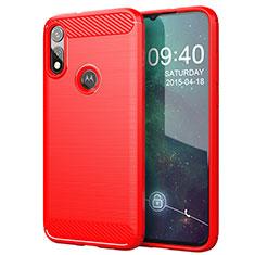 Silikon Hülle Handyhülle Gummi Schutzhülle Flexible Tasche Line für Motorola Moto E (2020) Rot