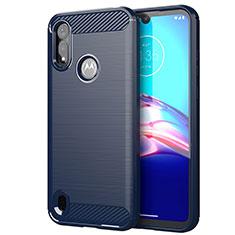Silikon Hülle Handyhülle Gummi Schutzhülle Flexible Tasche Line für Motorola Moto E6s (2020) Blau