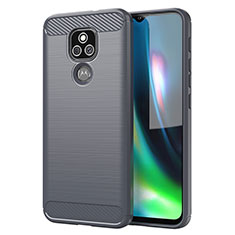 Silikon Hülle Handyhülle Gummi Schutzhülle Flexible Tasche Line für Motorola Moto E7 Plus Grau