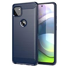 Silikon Hülle Handyhülle Gummi Schutzhülle Flexible Tasche Line für Motorola Moto G 5G Blau