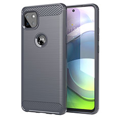 Silikon Hülle Handyhülle Gummi Schutzhülle Flexible Tasche Line für Motorola Moto G 5G Grau