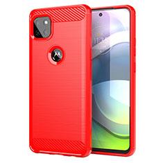 Silikon Hülle Handyhülle Gummi Schutzhülle Flexible Tasche Line für Motorola Moto G 5G Rot
