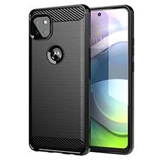 Silikon Hülle Handyhülle Gummi Schutzhülle Flexible Tasche Line für Motorola Moto G 5G Schwarz