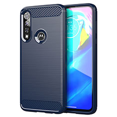 Silikon Hülle Handyhülle Gummi Schutzhülle Flexible Tasche Line für Motorola Moto G Power Blau
