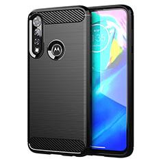 Silikon Hülle Handyhülle Gummi Schutzhülle Flexible Tasche Line für Motorola Moto G Power Schwarz