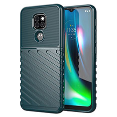 Silikon Hülle Handyhülle Gummi Schutzhülle Flexible Tasche Line für Motorola Moto G9 Grün