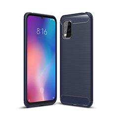 Silikon Hülle Handyhülle Gummi Schutzhülle Flexible Tasche Line für Xiaomi Mi 10 Lite Blau
