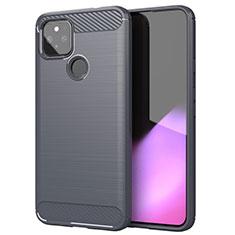 Silikon Hülle Handyhülle Gummi Schutzhülle Flexible Tasche Line S01 für Google Pixel 5 Grau