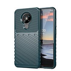 Silikon Hülle Handyhülle Gummi Schutzhülle Flexible Tasche Line S01 für Nokia 5.3 Grün