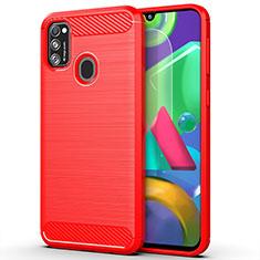 Silikon Hülle Handyhülle Gummi Schutzhülle Flexible Tasche Line S01 für Samsung Galaxy M30s Rot