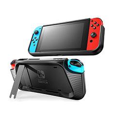 Silikon Hülle Handyhülle Gummi Schutzhülle Flexible Tasche Line S02 für Nintendo Switch Schwarz
