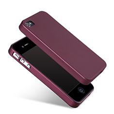 Silikon Hülle Handyhülle Gummi Schutzhülle für Apple iPhone 4 Rot
