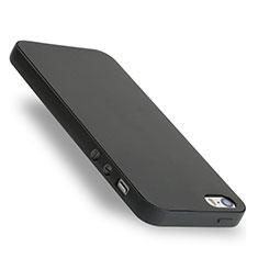Silikon Hülle Handyhülle Gummi Schutzhülle für Apple iPhone 5S Schwarz