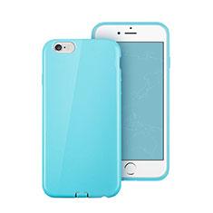 Silikon Hülle Handyhülle Gummi Schutzhülle für Apple iPhone 6 Plus Hellblau