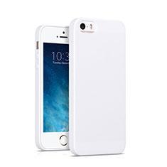 Silikon Hülle Handyhülle Gummi Schutzhülle für Apple iPhone SE Weiß