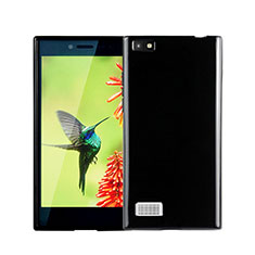 Silikon Hülle Handyhülle Gummi Schutzhülle für Blackberry Leap Schwarz