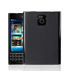 Silikon Hülle Handyhülle Gummi Schutzhülle für Blackberry Passport Q30 Schwarz