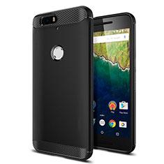 Silikon Hülle Handyhülle Gummi Schutzhülle für Google Nexus 6P Schwarz