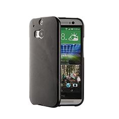 Silikon Hülle Handyhülle Gummi Schutzhülle für HTC One M8 Schwarz