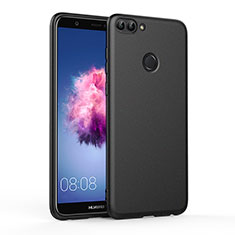 Silikon Hülle Handyhülle Gummi Schutzhülle für Huawei Enjoy 7S Schwarz