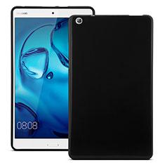 Silikon Hülle Handyhülle Gummi Schutzhülle für Huawei MediaPad M3 Schwarz