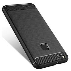 Silikon Hülle Handyhülle Gummi Schutzhülle für Huawei P10 Lite Schwarz