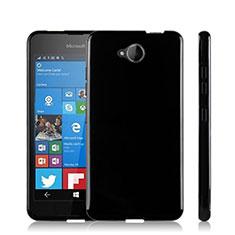 Silikon Hülle Handyhülle Gummi Schutzhülle für Microsoft Lumia 650 Schwarz