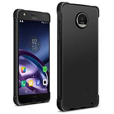 Silikon Hülle Handyhülle Gummi Schutzhülle für Motorola Moto Z2 Play Schwarz