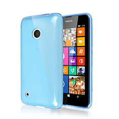 Silikon Hülle Handyhülle Gummi Schutzhülle für Nokia Lumia 530 Hellblau