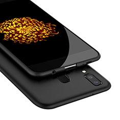 Silikon Hülle Handyhülle Gummi Schutzhülle für Samsung Galaxy A9 Star SM-G8850 Schwarz