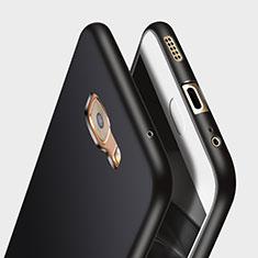 Silikon Hülle Handyhülle Gummi Schutzhülle für Samsung Galaxy C7 Pro C7010 Schwarz