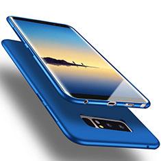 Silikon Hülle Handyhülle Gummi Schutzhülle für Samsung Galaxy Note 8 Blau