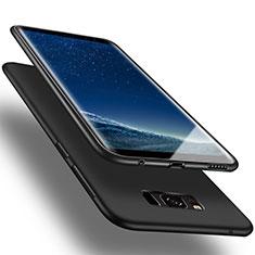 Silikon Hülle Handyhülle Gummi Schutzhülle für Samsung Galaxy S8 Schwarz