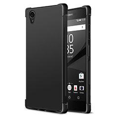 Silikon Hülle Handyhülle Gummi Schutzhülle für Sony Xperia XA1 Plus Schwarz