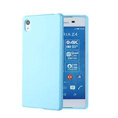 Silikon Hülle Handyhülle Gummi Schutzhülle für Sony Xperia Z3+ Plus Blau
