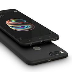 Silikon Hülle Handyhülle Gummi Schutzhülle für Xiaomi Mi A1 Schwarz